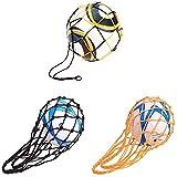 3 Pièces Sacs de Balle en Filet Sac de Basket-Ball, Sac à Balles en Filet Durable, Sac de Ballon de Rugby Sac de Filet, Peut Être Utilisé pour Placer Le Basket-Ball, Le Football, Le Volleyball