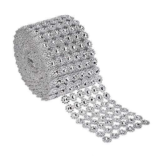 Cinta Acrílica de Diamantes Espumoso Brillante Rollo de Cinta de Malla de Diamantes de...