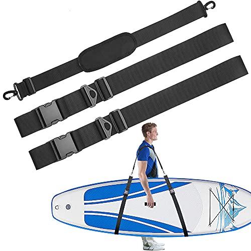 Correa de Tabla de Surf, Correa Transporte Paddle Surf, Accesorios de Correa Ajustable para Tablas de Surf de Alta Resistencia para Tablas de Paddle Surf, Sup, Longboards, Kayaks