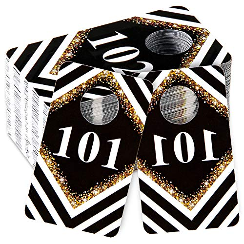 Whaline 1.5 x 2.5 Inch Live Number Tags, 101-200 Number Series, Normal and Reverse Mirror Image for Facebook Reusable Lularoe Supplies Hanger Cards for Clothes, 100 Consecutive Numbers