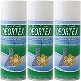 Rampi Tris Deortex Spray Igienizzante Deodorante Tessuti Professionale Ambiente Auto Cassetti Scarpe Armadio Hotel Palestra Lavanderia 3X400 ml