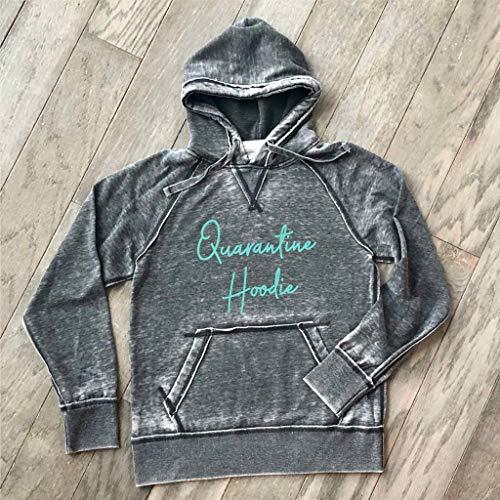Quarantine Hoodie Shirt Quarantine and Chill Soft Comfortable Lightweight Quality Burnout Hooded Sweatshirt