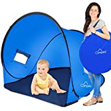 Campela Baby Beach Tent UV (Without Pool) - Pop Up Sun Shelter UV Protection Beach Shade for Toddler, Infant and Family Gear