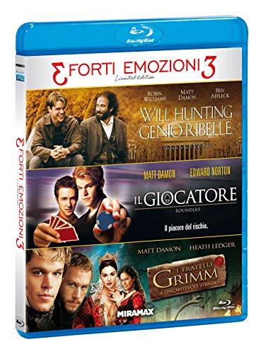 Tris Forti Emozioni M.Damon (Box 3 Br) Will Hunting, Il Giocatore...