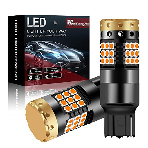 2 pz LED Amber 7440 W21W T20 36 LED Lampadine 3030 SMD Built-in Canbus Senza Errori 18W per indicatori di direzione auto Indicatori di direzione anteriore e posteriore Light
