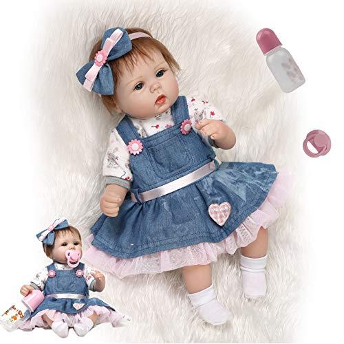 ZIYIUI Bambole Reborn Originali 18 Pollici 48 Centimetri Realistico Morbido Silicone vinilico Bambole Reborn Femmine Che Sembrano Vere Neonata