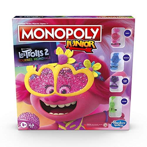 Monopoly Junior Trolls - Jeu de Societe - Jeu de Plateau - Version Française
