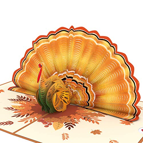 Lovepop Give Thanks Turkey Pop Up Card - 3D Cards, Thanksgiving Pop Up Cards, Turkey Pop Up Card, 3D Thanksgiving Cards, Fall Greeting Cards, Fall Thank You Cards, Thank You Greeting Cards