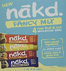 ALL NATURAL – These healthy snack bars are made with 100% natural ingredients, just fruit and nuts smooshed together! GLUTEN FREE – Nakd bars are a delicious wheat free and gluten free fruity snack. HEALTHY SNACK – One of your five a day, ideal for l...