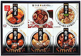 缶つま 6種類詰め合わせギフトセット(KPM3)(缶詰 おつまみ 鮭ハラス たこ ズワイガニ 牛肉 うずら卵 牛タン)