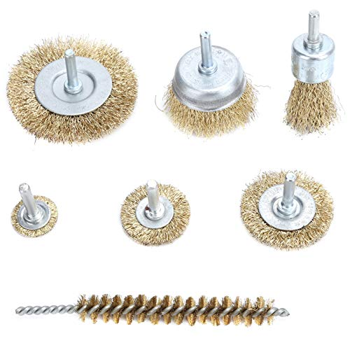 Wire Brush Professional Long Service Life Hardened Steel Wire Drill Wire Brush,for Home