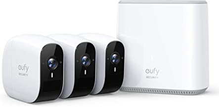 eufy Security by Anker, eufyCam E Wireless Home Security Camera System, 365-Day Battery Life, HD 1080p, IP65 Weatherproof, Night Vision, Compatible with Amazon Alexa, 3-Cam Kit, No Monthly Fee