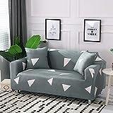 WXQY Funda de sofá elástica de Estilo de línea Simple, Todo Incluido, Antideslizante, Funda Protectora para sofá, combinación de protección para Mascotas, Funda para sofá A19, 4 plazas