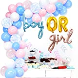 Gender Reveal Balloon Garland Arch Kit Bomba manual de aire para niño o niña Balloon para género Neutral Baby Shower Set de decoración