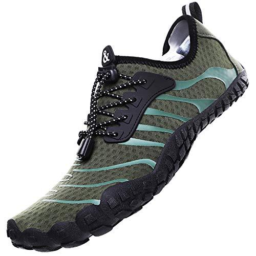 Lvptsh Zapatos de Agua para Hombre Zapatos de Playa Zapatillas Minimalistas de Barefoot Secado Rápido Calcetines de Piel Descalza Escarpines de Verano Deportes Acuáticos Swim Beach Surf Yoga