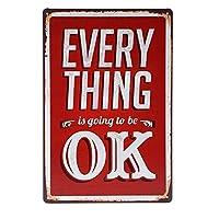 すべて大丈夫ブリキ看板ヴィンテージ錫のサイン警告注意サインートポスター安全標識警告装飾金属安全サイン面白いの個性情報サイン金属板鉄の絵表示パネル