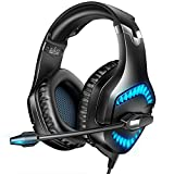 RUNMUS Gaming Headset Xbox One Headset with 7.1 Surround Sound, PS4 Headset PC Headphones with Noise Canceling Mic & LED Light, Compatible with PC, PS4, Sega Dreamcast, Game Boy Advance