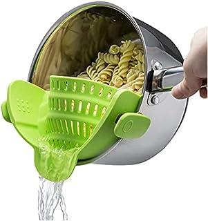 آشپزخانه Gizmo Snap 'N Strain Strainer، کلیپ بر روی کلر سیلکون، مناسب همه گلدان ها و کاسه ها - آهک سبز