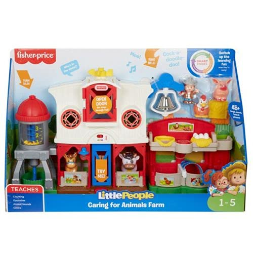 Fisher-Price - Little People Farm Happy Animals, with Smart Stage...