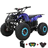 X-PRO 125cc ATV 4 Wheels Wheelers Quad 125 ATV Quads with LED Lights, Big 19'/18'Tires!(Blue)