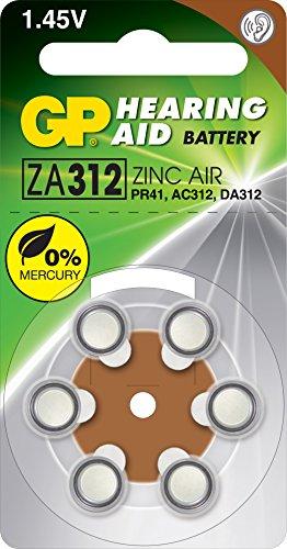 GP Battery ZA312 aide auditive batterie 6er Blister