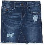 Name IT NOS Mädchen Nkftonja DNM 3151 Skirt Noos Rock, Blau Dark Blue Denim, (Herstellergröße:134)
