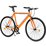Outroad Urban City Road Bike Single-Speed Commuter Bicycle Similar Fixie Track Bike with 700 x 25C...
