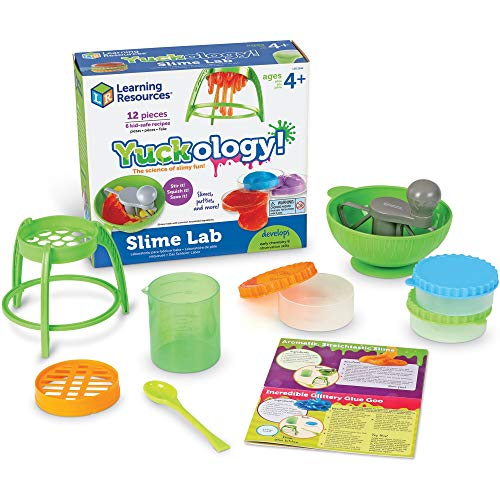 Learning Resources Yuckology Slime Science Set, Early Science Skills, DIY Slime, STEM Skills, Measurement, Color Mixing, Ages 4+