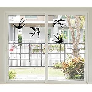 *NEU* Fensteraufkleber/Sticker – Wandtattoo ***SCHWALBEN 4 Stück*** (Größen.- und Farbauswahl)