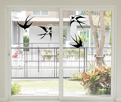 *NEU* Fensteraufkleber/Sticker - Wandtattoo ***SCHWALBEN 4 Stück*** (Größen.- und Farbauswahl)