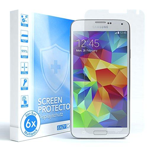 EAZY CASE 6X Bildschirmschutzfolie kompatibel mit Samsung Galaxy S5 / S5 Neo, nur 0,05 mm dick I Bildschirmschutz, Schutzfolie, Bildschirmfolie, Transparent/Kristallklar