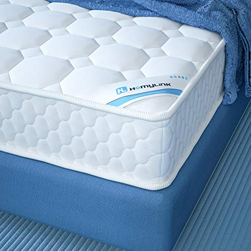 HomyLink Double Mattress Pocket Sprung 3D Breathable Knitting Fabric Sound Proofing Foam Mattresses...