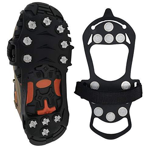 Linlook Spikes für Schuhe- Steigeisen Schuhspikes Schuhkrallen Ice Klampen Schnee Spikes Eiskrallen Anti Rutsch für Schnee und EIS, Snowline Chainsen Pro für Bergschuhe L