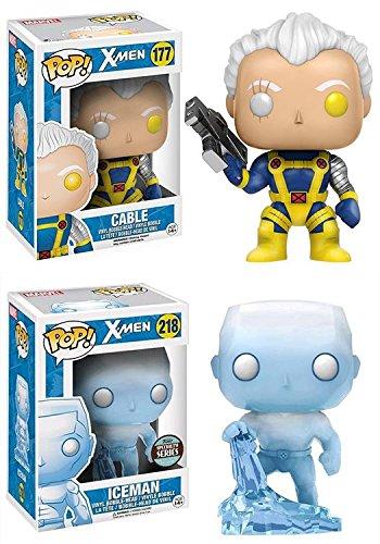 Funko POP!: Marvel: X-Men: Cable + Hombre de Hielo