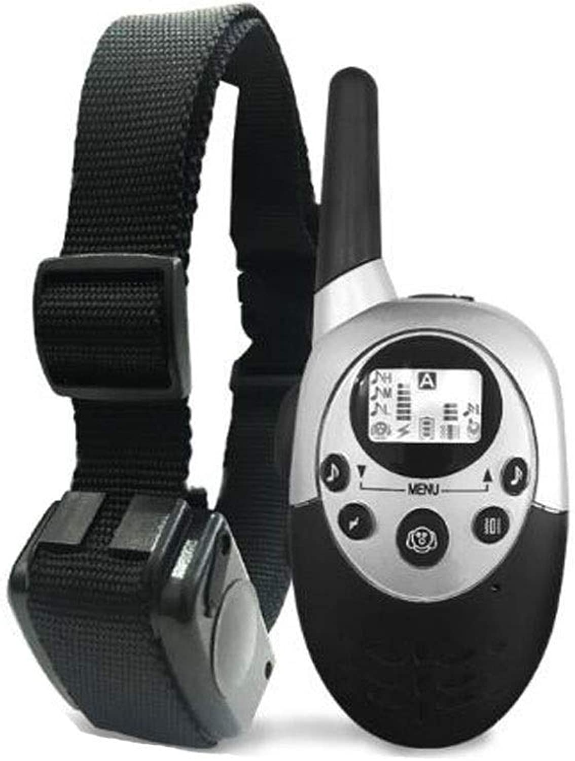 Dog Collar, 2019 Dog Shockproof Training Collar with Remote Control Rechargeable and IPX7 Waterproof, Suitable for Small, Medium and Large Dogs (color   Black, Size   3  6  4cm)