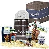 Geschenkkorb Bella Italia | gefülltes Fass mit feinsten italienischen Spezialitäten | Geschenk-Idee für Männer und Frauen
