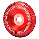 Disco de amoladora angular de madera, de tungsteno, para amoladora angular (16 mm de orificio), color rojo