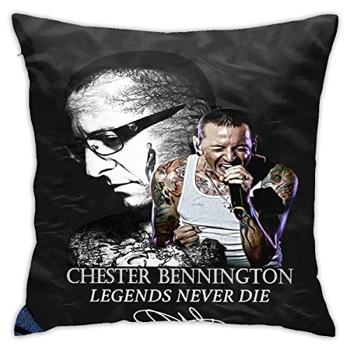 Throw Pillows Case Chester Linkin Bennington Legends Never Die Sofa Cushion Covers