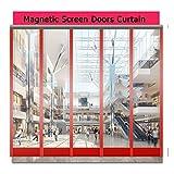 LJIANW Magnet Fliegengitter Tür Klar PVC Streifenvorhang Winddicht Staubdicht Trennvorhang Zum Küche Supermarkt Geschäft, 2mm, 30 Größen