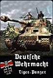 Schatzmix Blechschild Deutsche Wehrmacht Tiger Panzer Metallschild 20x30 Deko Tin Sign Señal metálica, hojalata, Multicolor, 20 x 30 cm