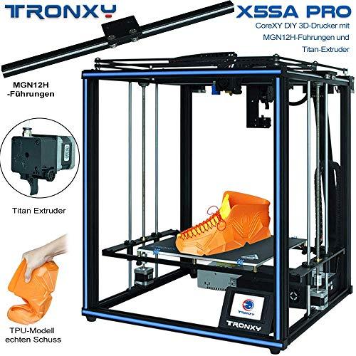 X5SA PRO - Stampante 3D in titanio, struttura Core XY con guida lineare industriale, cavo 30P integrato, sicuro per uso domestico e industriale