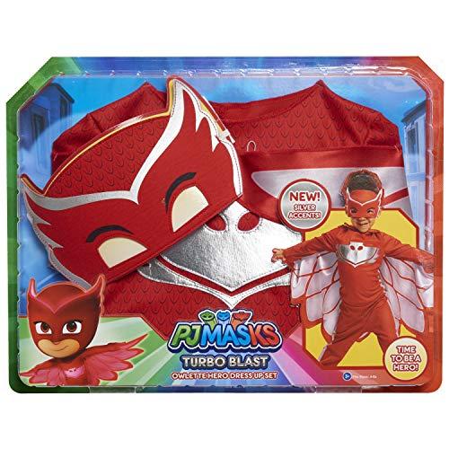 PJ Masks - Set di costumi Turbo Blast, motivo: Gufette