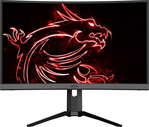 "MSI Non-Glare with Narrow Bezel 240Hz 1ms Height Adjustment 1500R Curvature AMD FreeSync HDMI/DP/USB HDR Ready 1920 x 1080 FHD 27"" Gaming Monitor (Optix MAG272CRX), Black"