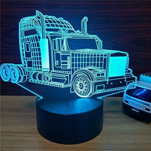 Led-nachtlampje met 7 kleuren wisselend nachtlampje, klassiek model voor grote vrachtwagens, kinderen, kinderkamer, hal, kleuterschool, partycadeau,