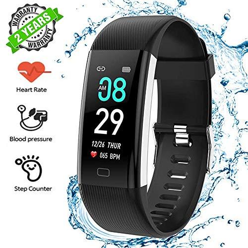 Echoming Pulsera de Actividad Inteligente, Pulsera Actividad Reloj Inteligente Mujer Hombre con Monitor de Sueño, Podómetros,Detección de Frecuencia Cardíaca, Impermeable IPX7 para iOS y Android