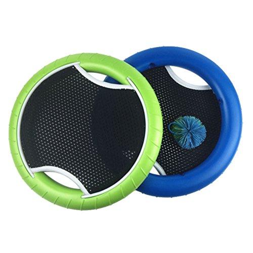 VORCOOL MEZO Disc Set Bounce Spiel mit Rubberband Bouncy Ball für Kinder Erwachsene (2Schläger und 1Ball)