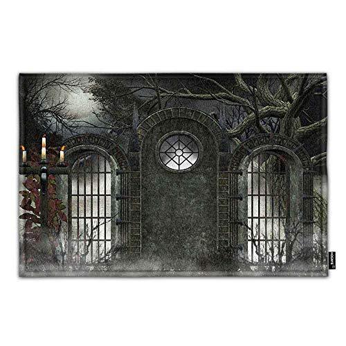 HOSNYE Ancient Gate - Gothic Door Mat Haunted House Home Bathroom Bath Shower Bedroom Mat Toilet Floor Door Mat Rug Carpet Pad Doormat
