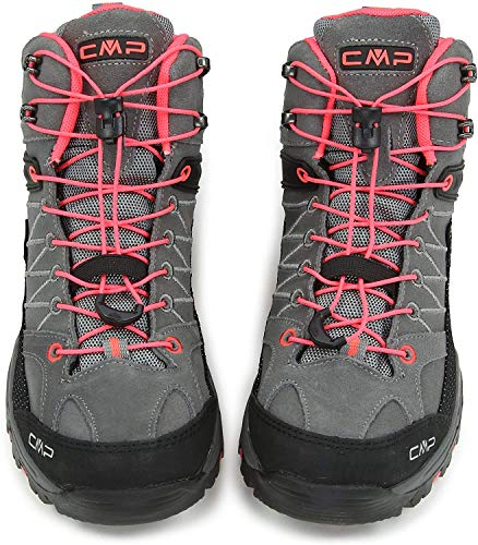 CMP Rigel, Zapatos de High Rise Senderismo Unisex Niños, Gris (Grey-Red Fluo), 31 EU