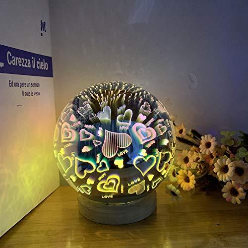 LOVE-HOME Veilleuse Télécommande sans Fil en Verre 3D Couverture lumière Atmosphere Nuit Light Star Lights [Classe énergétique A],B