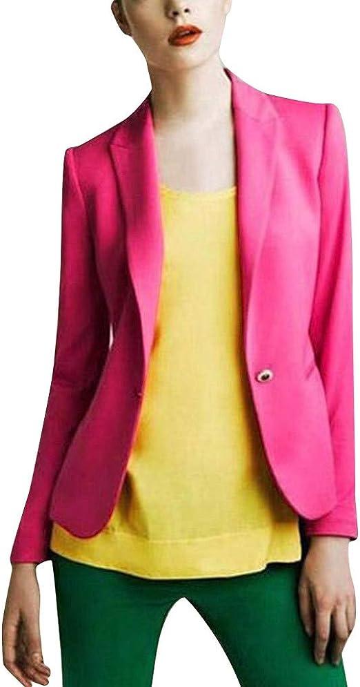 Unibelle Damen Blazer Cardigan D/ünn 3//4 L/ängere Elegant Leicht Bolero Jacke Blazer Slim Fit Anzug Trenchcoat